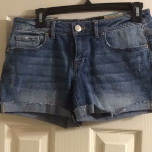 Woman's Aeropostale stressed denim midi shorts